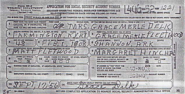 social security request form