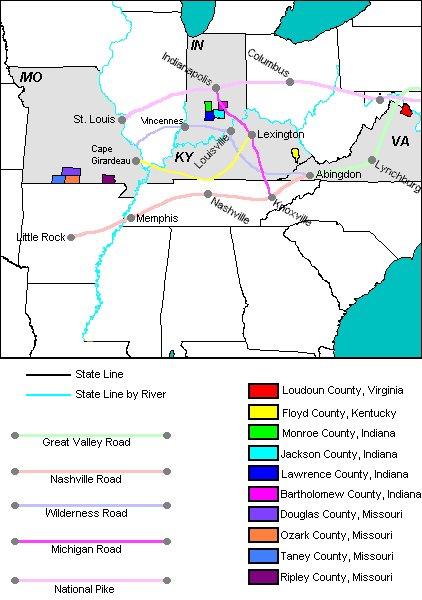 Old US Trails - Us map west of mississippi river